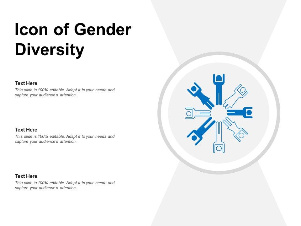 Icon Of Gender Diversity Powerpoint Templates Designs