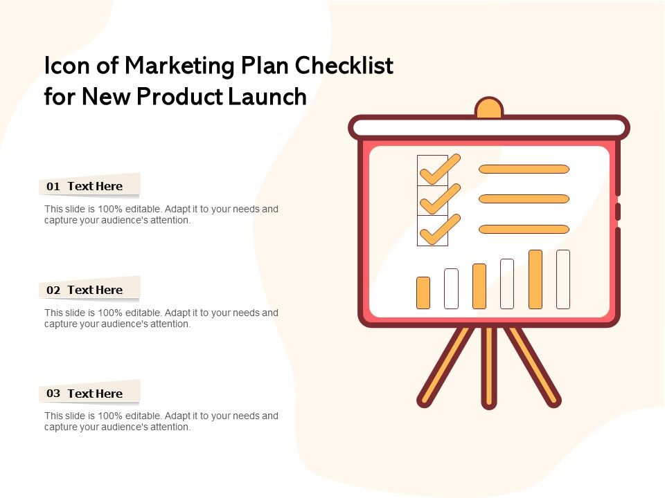 Icon Of Marketing Plan Checklist For New Product Launch