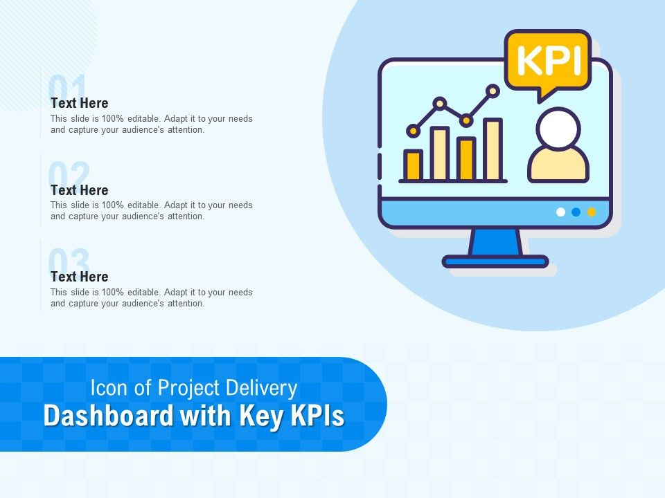 Icon Of Project Delivery Dashboard With Key KPIS