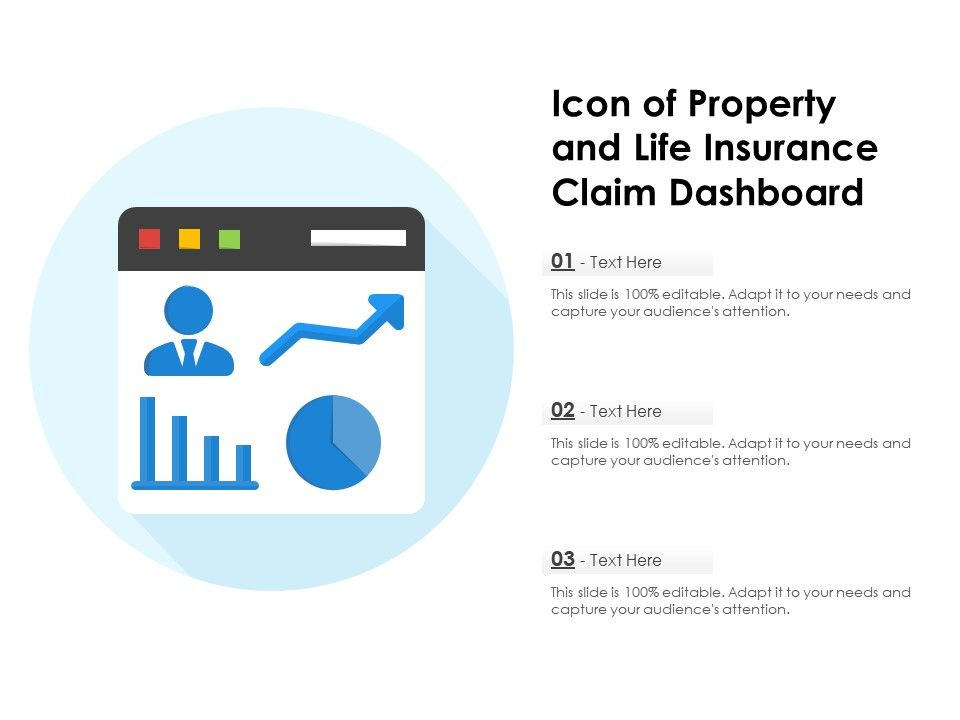 Icon Of Property And Life Insurance Claim Dashboard ...