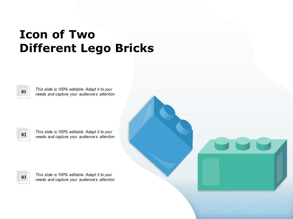 Icon Of Two Different Lego Bricks