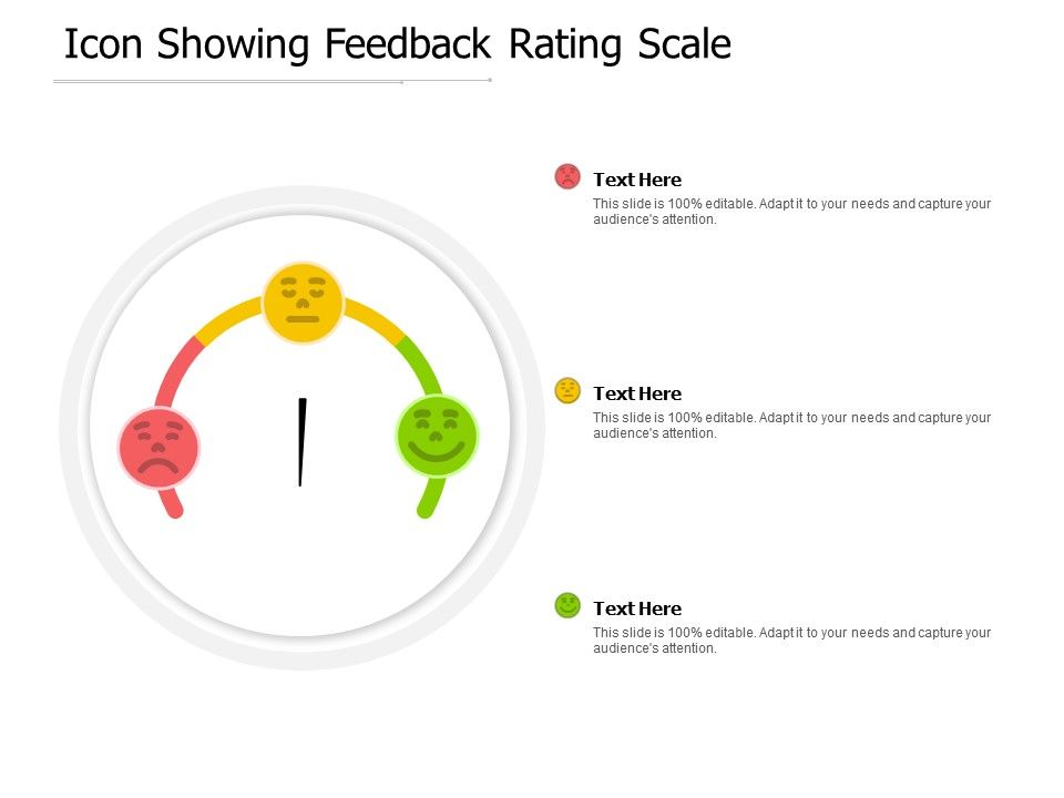 Icon Showing Feedback Rating Scale