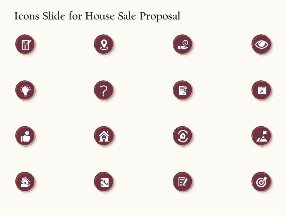 Icons Slide For House Sale Proposal Ppt Powerpoint Presentation Summary Structure