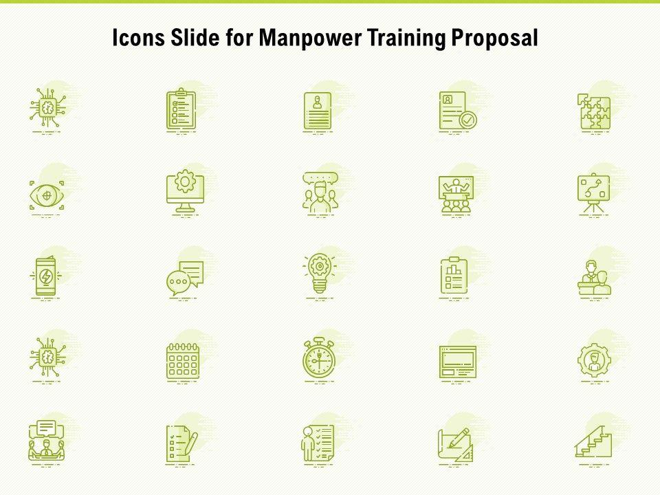 Icons Slide For Manpower Training Proposal Ppt Powerpoint Presentation Portfolio Outline