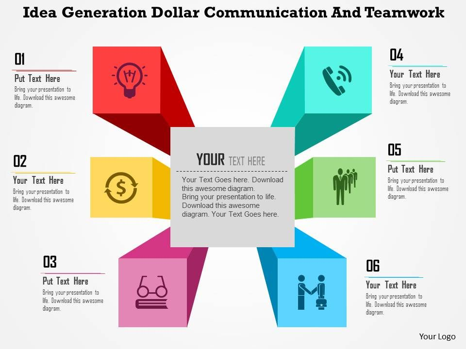 idea_generation_dollar_communication_and_teamwork_flat_powerpoint_design_slide01 - Powerpoint Design Ideas