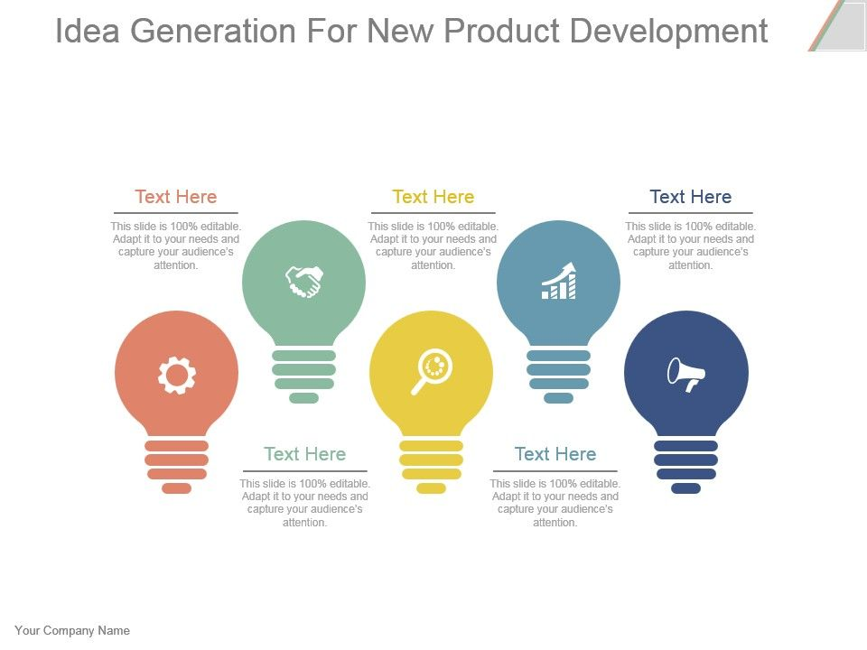 Idea generation for new product development powerpoint for Product development firms