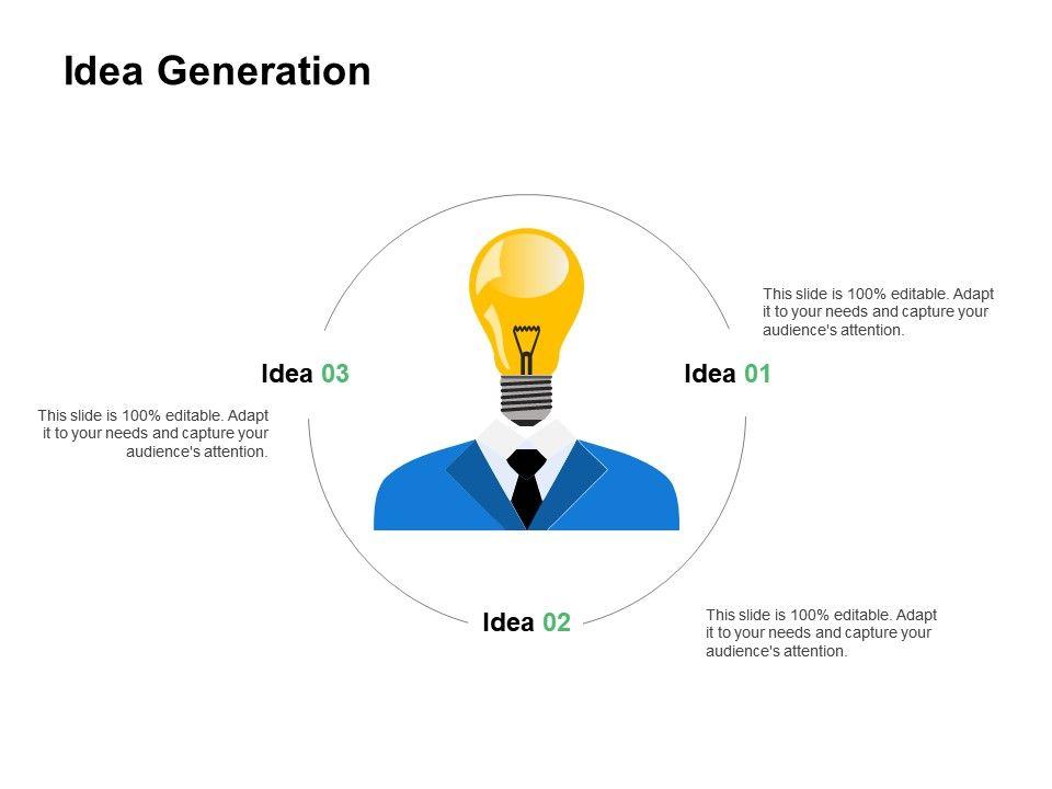 Idea Generation Innovation Ppt Powerpoint Presentation Professional Diagrams
