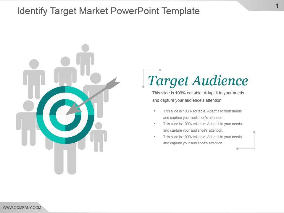 identify target market powerpoint template powerpoint presentation
