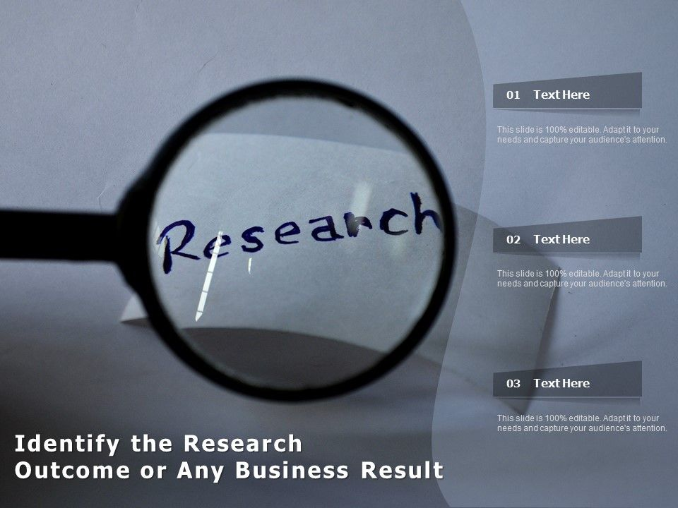 Identify The Research Outcome Or Any Business Result