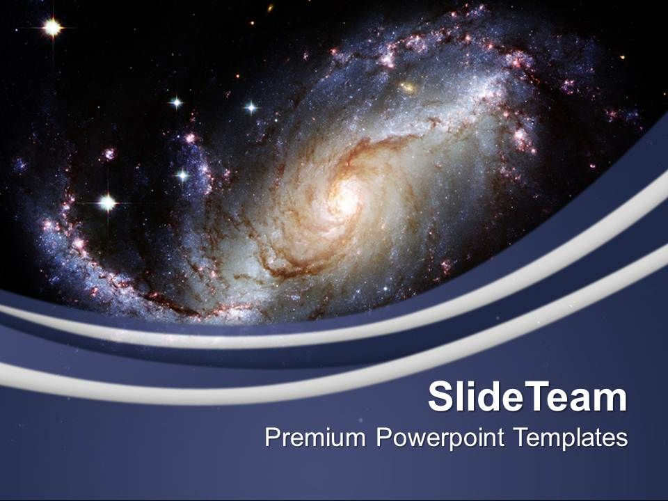 Illustration Of Spiral Galaxy Powerpoint Templates Ppt Themes And Graphics 0213 Presentation Powerpoint Templates Ppt Slide Templates Presentation Slides Design Idea