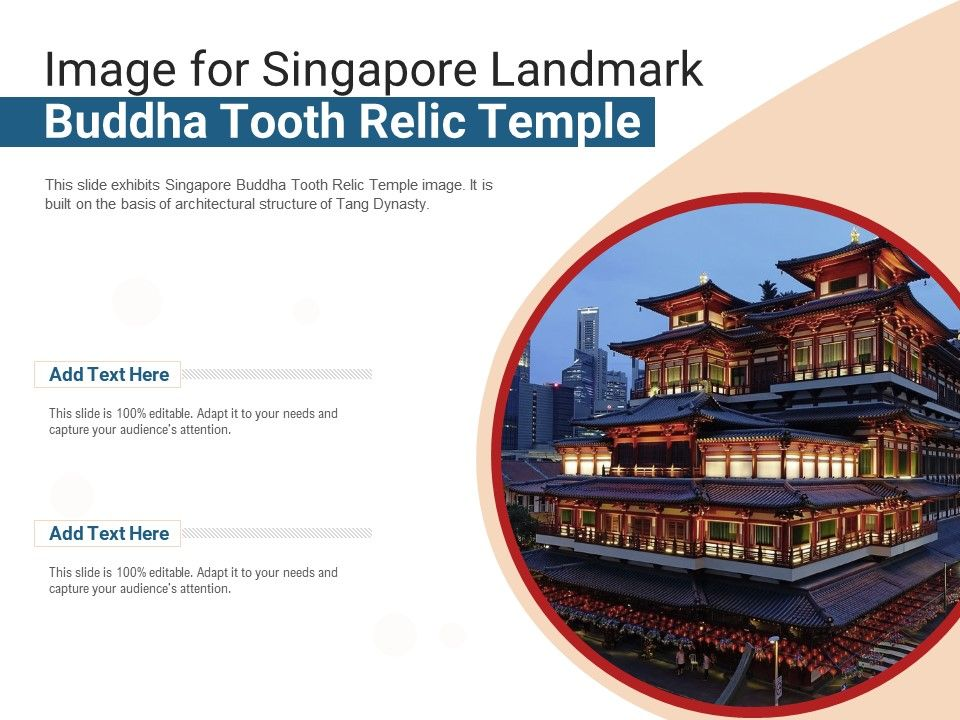 Image For Singapore Landmark Buddha Tooth Relic Temple Powerpoint Presentation Ppt Template
