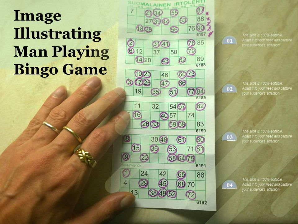 Image Illustrating Man Playing Bingo Game