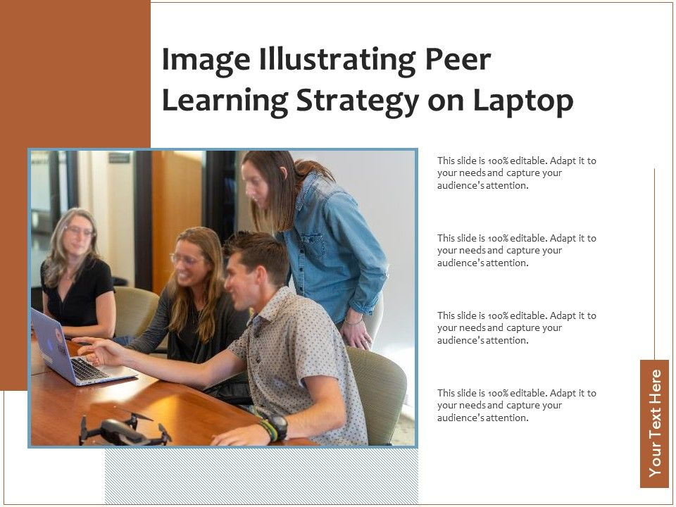 Image Illustrating Peer Learning Strategy On Laptop