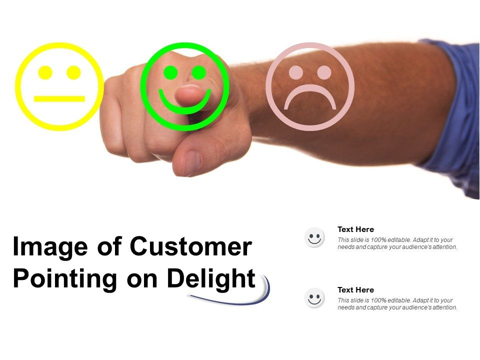 Image Of Customer Pointing On Delight
