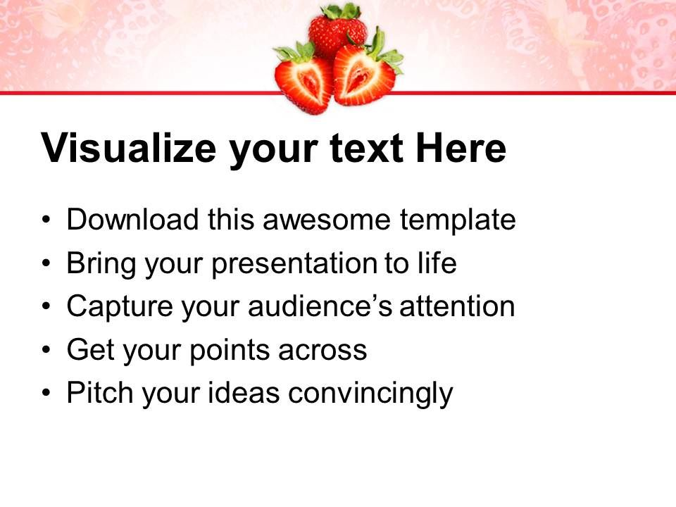 image of red strawberry fruit powerpoint templates ppt backgrounds