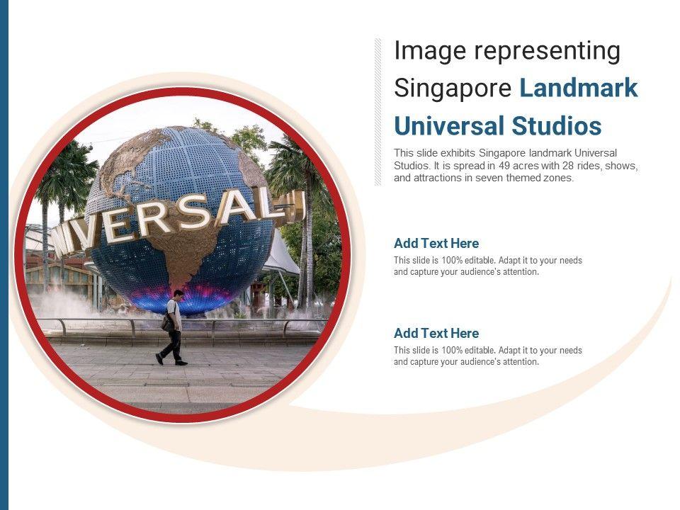 Image Representing Singapore Landmark Universal Studios Powerpoint Presentation Ppt Template