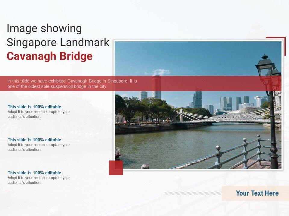 Image Showing Singapore Landmark Cavanagh Bridge Powerpoint Presentation Ppt Template