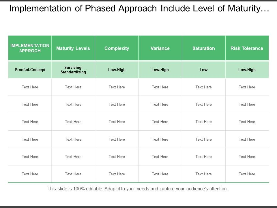 implementation_of_phased_approach_include_level_of_maturity_levels_risk_tolerance_and_rate_of_complexity_Slide01