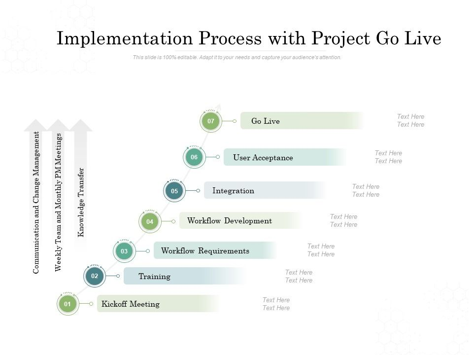 Implementation Process With Project Go Live