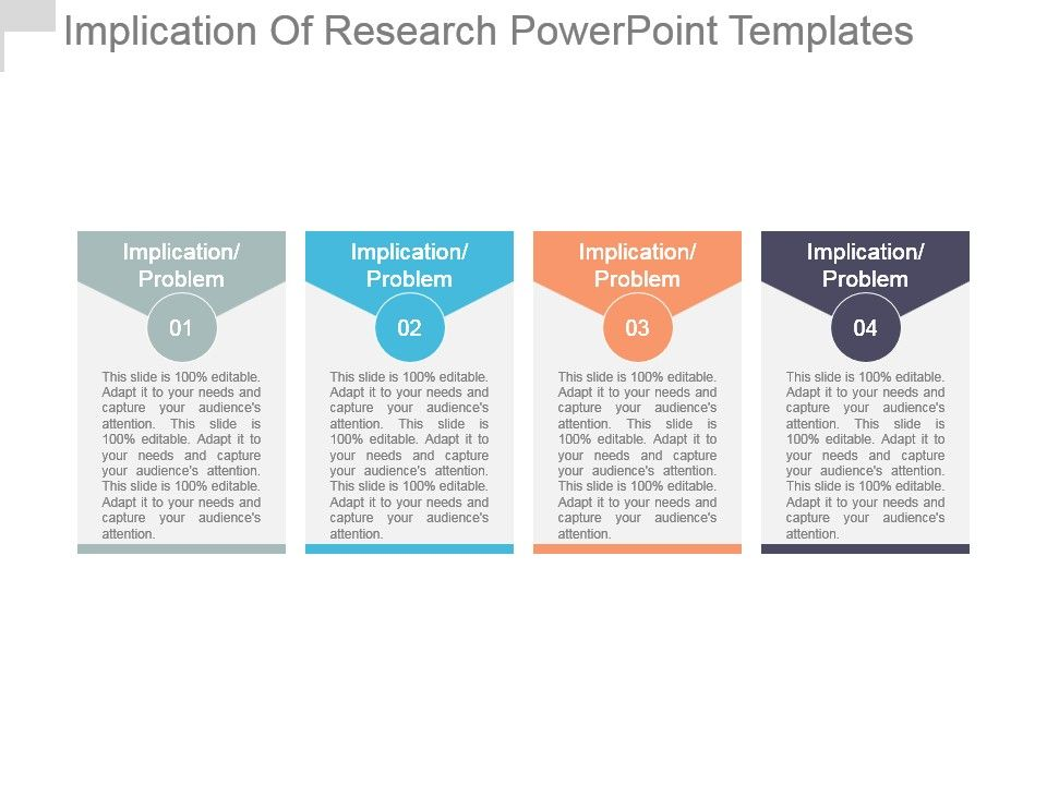 Implication Of Research Powerpoint Templates