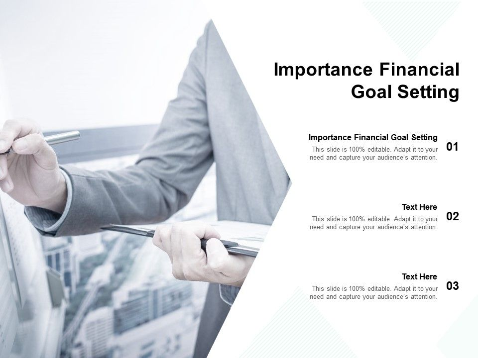 Importance Financial Goal Setting Ppt Powerpoint Presentation Styles Deck Cpb
