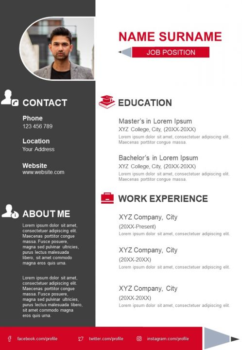 Impressive CV Template For Job Search