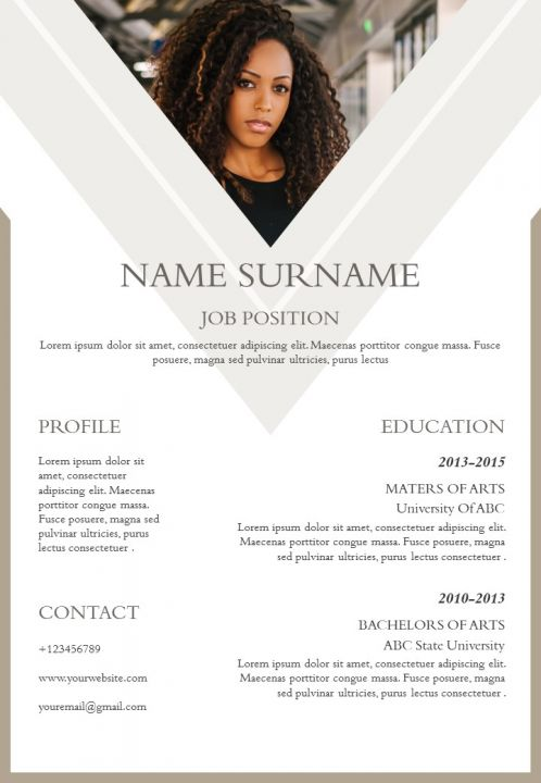 Impressive CV Template With Achievements And Skills