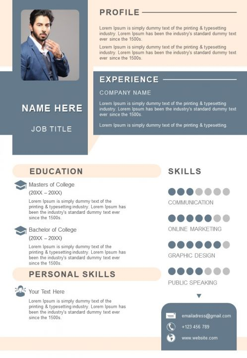 Impressive Resume Format For Job Search