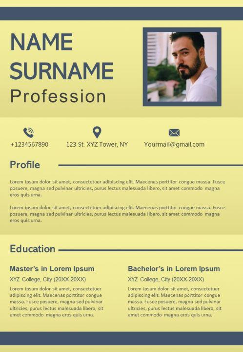 Impressive Resume Powerpoint Design Layout For Self Presentation