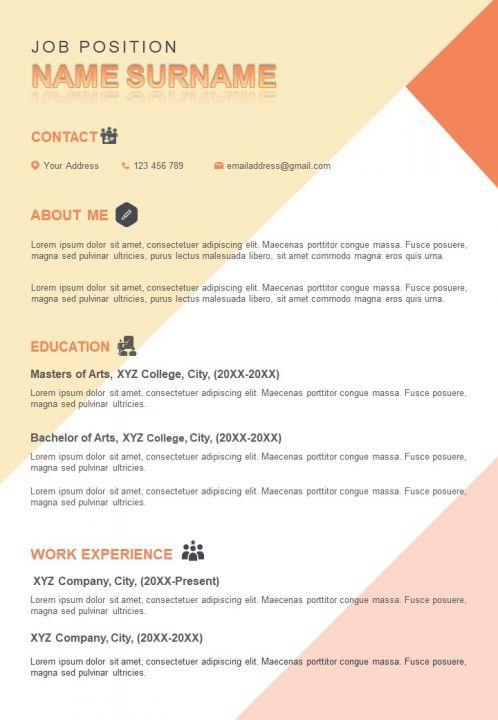 Impressive Resume Sample A4 Design Template To Introduce Yourself