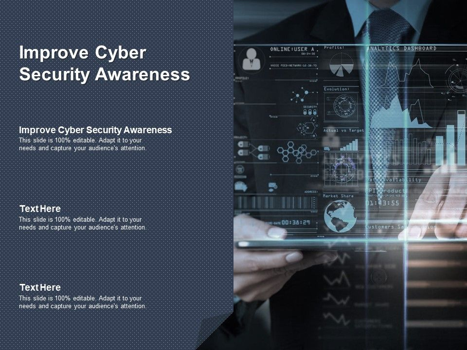 Improve Cyber Security Awareness Ppt Powerpoint Presentation Infographic Template Cpb