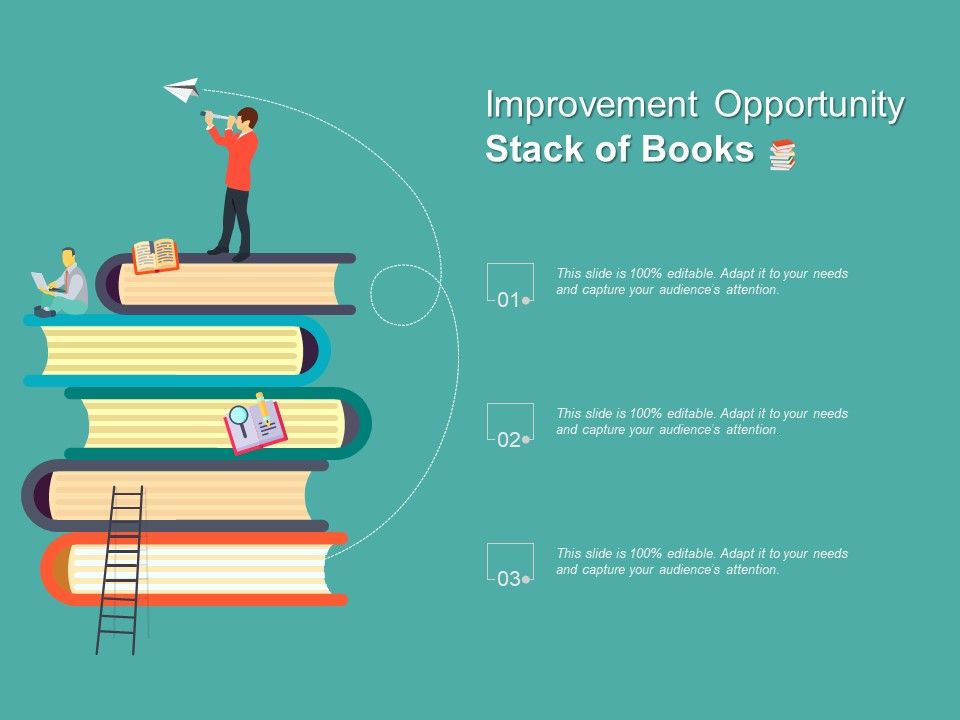 Improvement Opportunity Stack Of Books