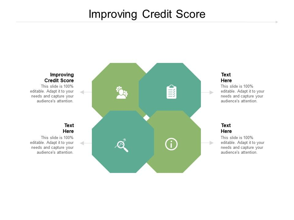 Improving Credit Score Ppt Powerpoint Presentation Infographics Graphics Cpb