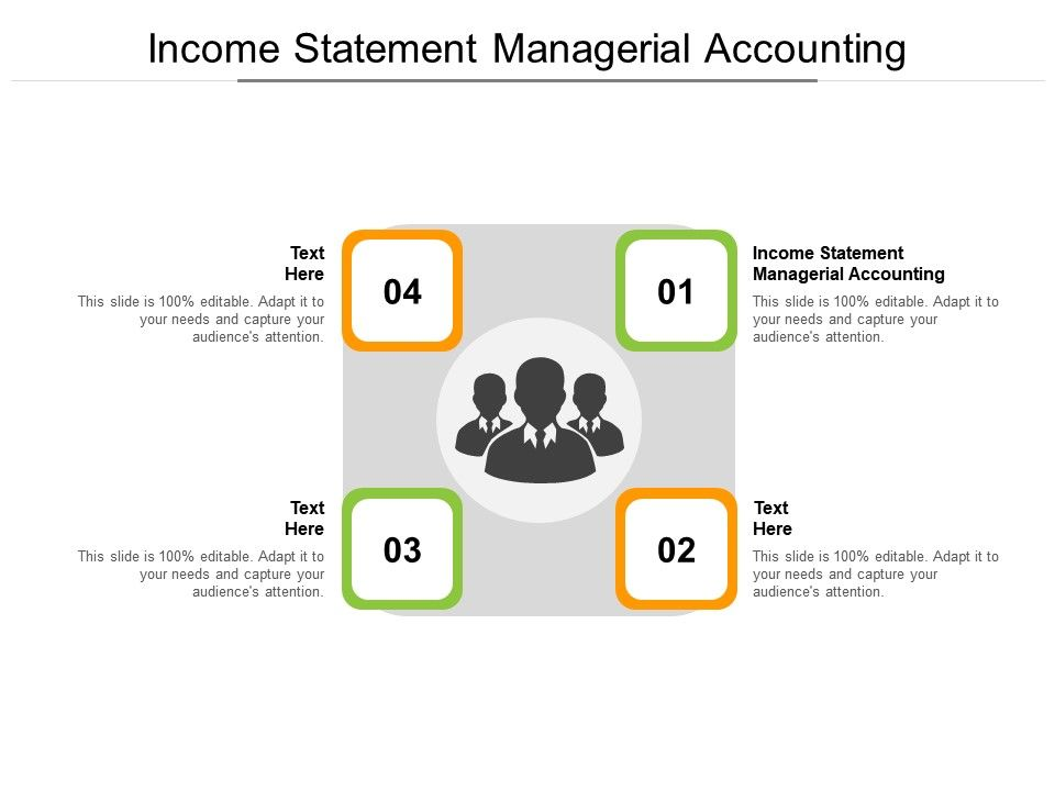 Income Statement Managerial Accounting Ppt Powerpoint Presentation Shapes Cpb