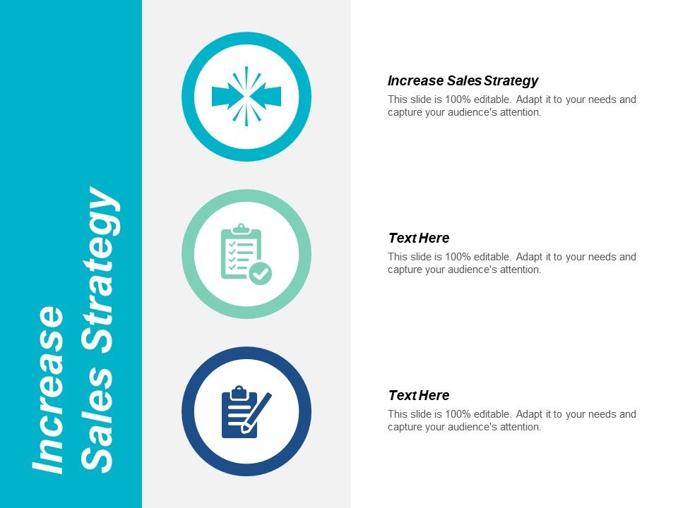 increase sales strategy ppt powerpoint presentation styles