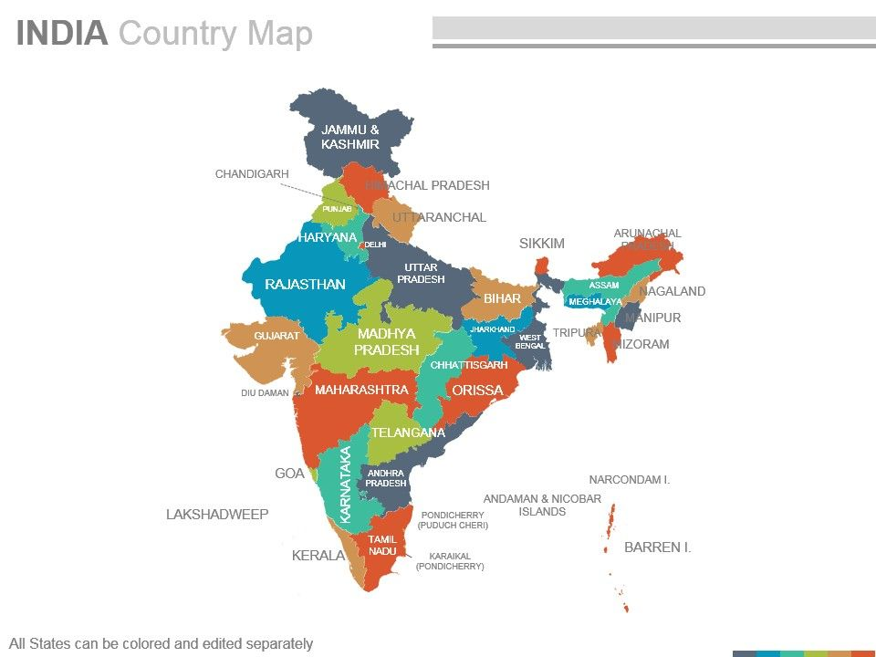 India Country Powerpoint Maps | PowerPoint Presentation Sample ...