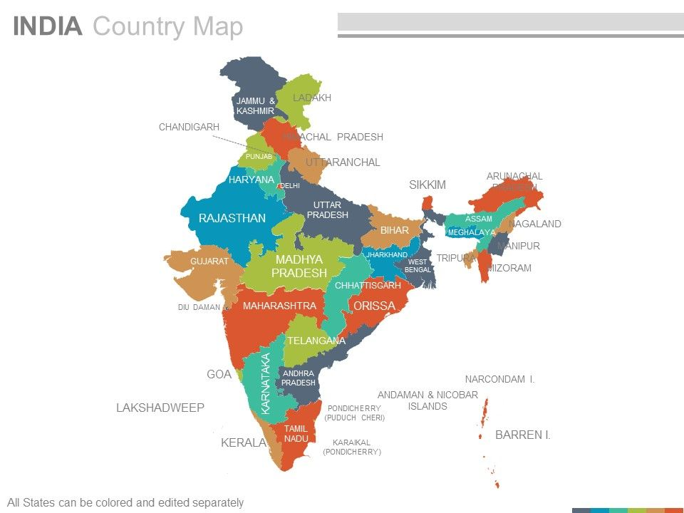 editable map of india India Country Powerpoint Maps Powerpoint Presentation Designs editable map of india
