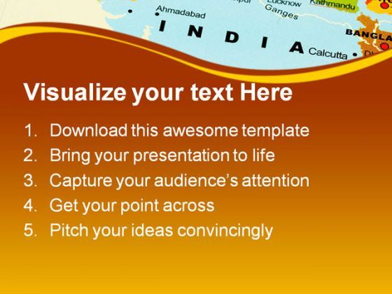 india on map globe powerpoint templates and powerpoint backgrounds, Modern powerpoint