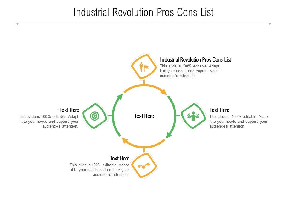 Industrial Revolution Pros Cons List Ppt Powerpoint Presentation Icon Slides Cpb