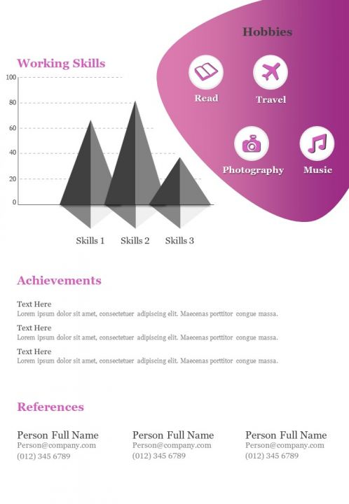 Infographic Resume Creative Sample Design Template For Self