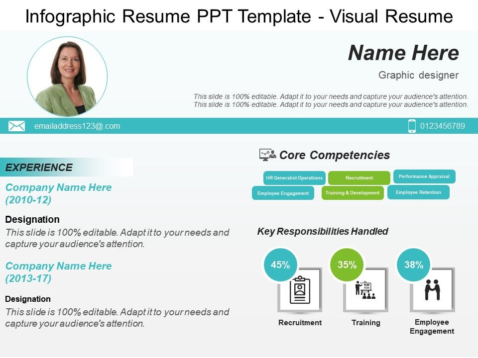infographic resume ppt template visual resume
