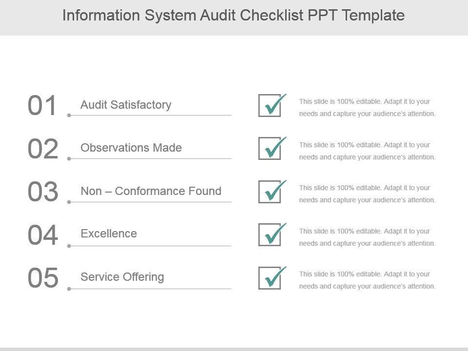 information_system_audit_checklist_ppt_template_Slide01