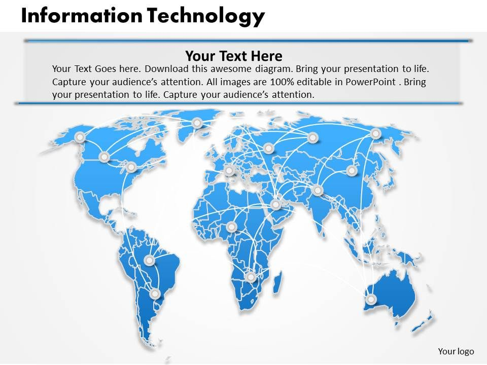 information technology powerpoint template slide powerpoint