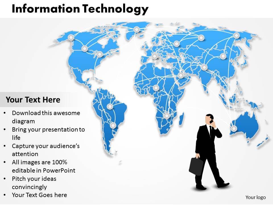 Information Technology Powerpoint Template Slide Powerpoint Presentation Designs Slide Ppt Graphics Presentation Template Designs