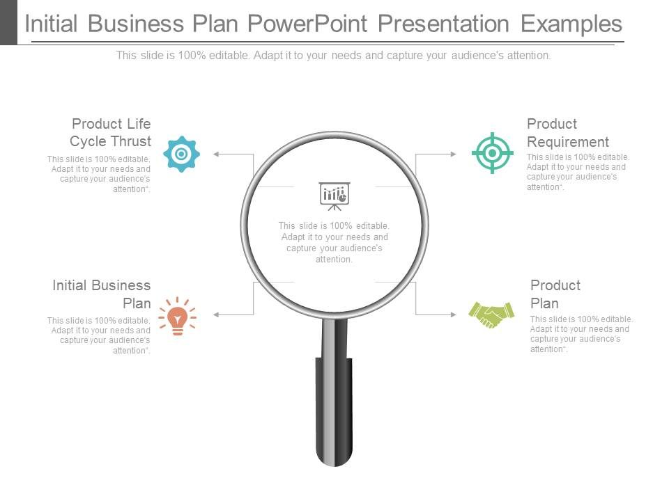 initial business plan powerpoint presentation examples
