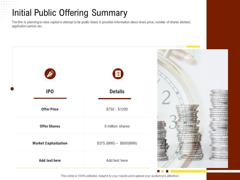 Initial Public Offering Summary Rethinking Capital Structure Decision Ppt Powerpoint Example