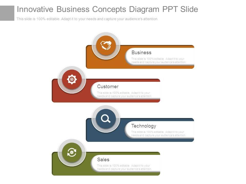 Innovative Business Concepts Diagram Ppt Slide PowerPoint - Unique outline template for presentation concept