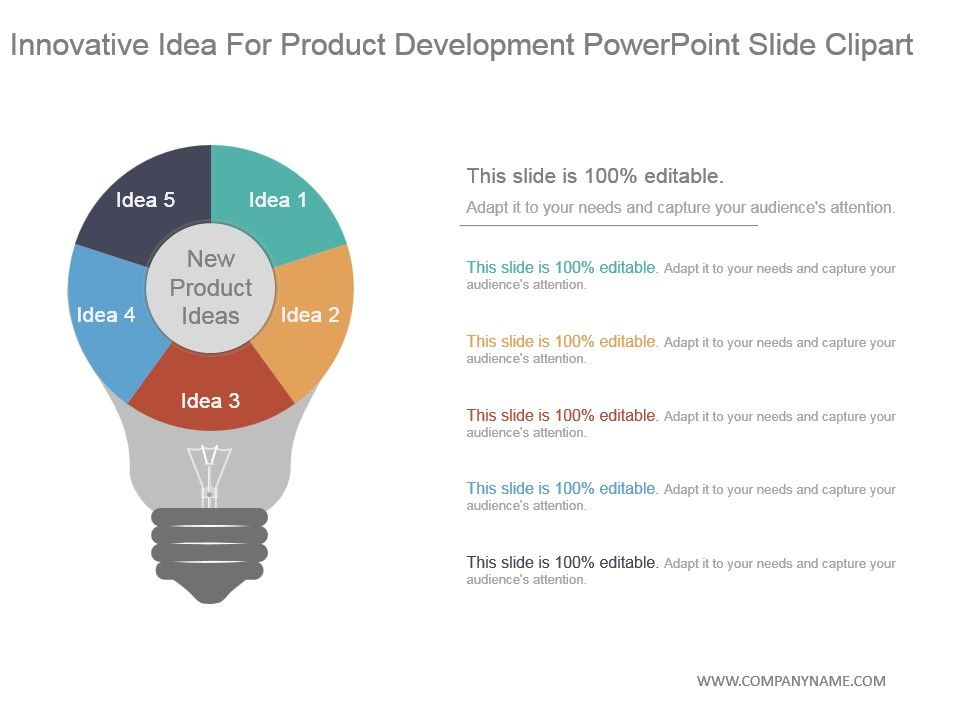 Innovative idea for product development powerpoint slide for Innovative product development companies