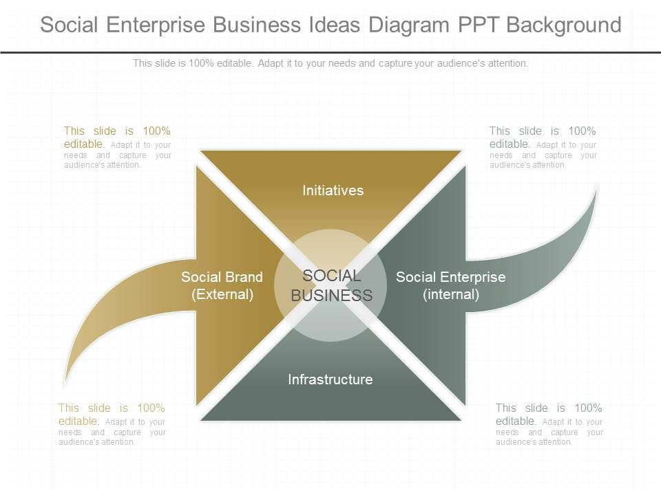 Innovative Social Enterprise Business Ideas Diagram Ppt