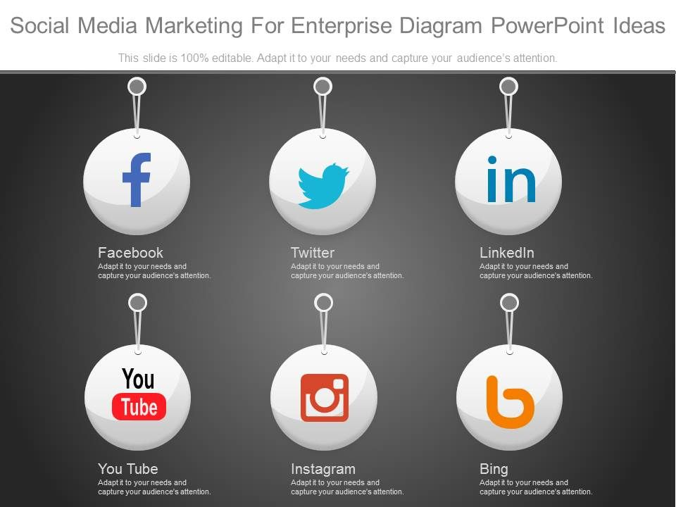 Innovative Social Media Marketing For Enterprise Diagram Powerpoint